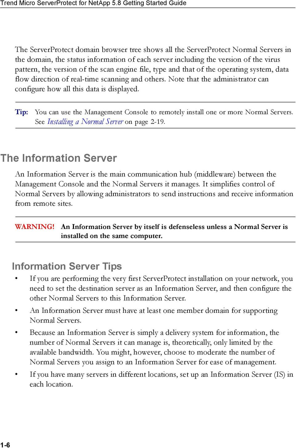 Trend Micro ServerProtect for NetApp 5 8 Getting Started Guide - PDF