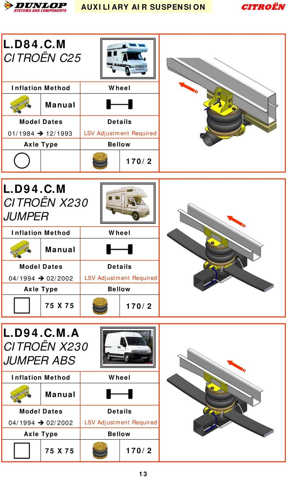 auxiliary air suspension product catalogue edition 4 pdf