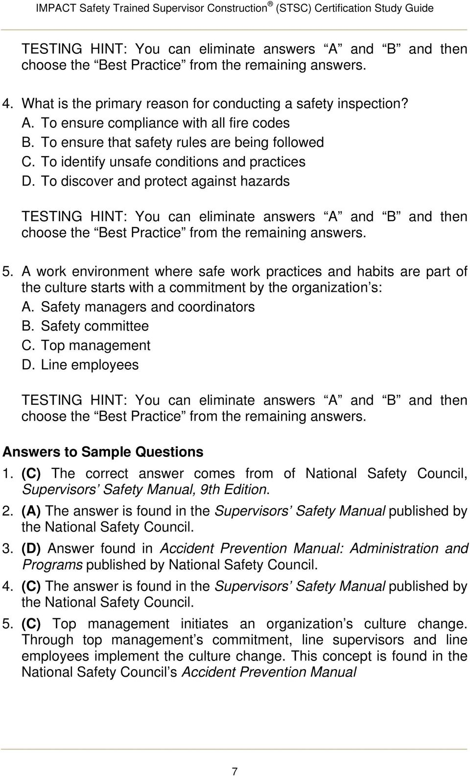 Stsc study guide