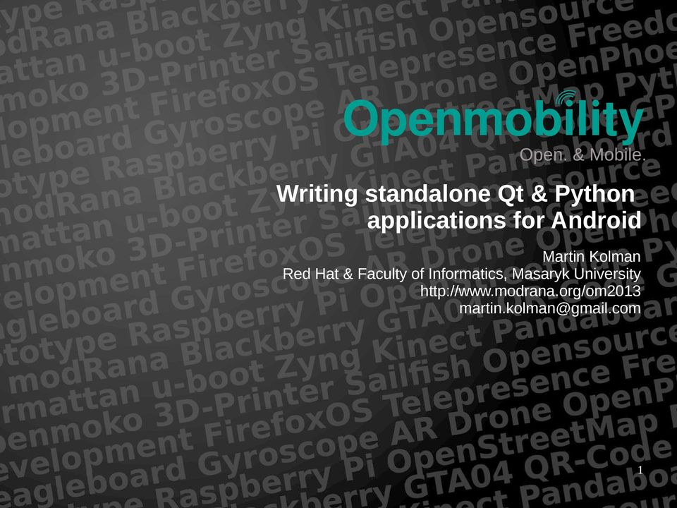 Writing standalone Qt & Python applications for Android - PDF