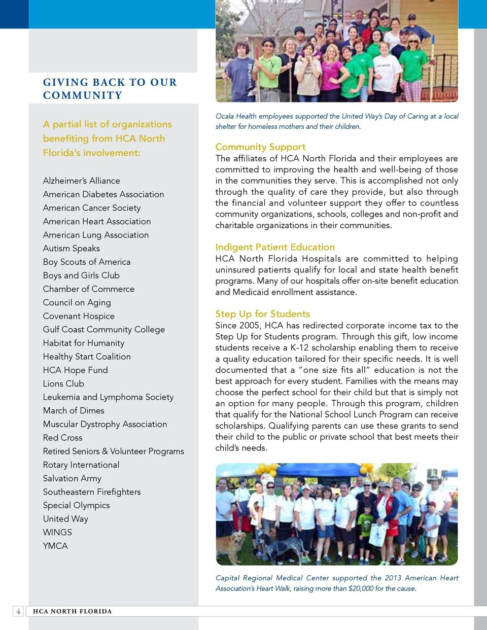 Community Report Hca North Florida Our Commitment To Excellence Pdf