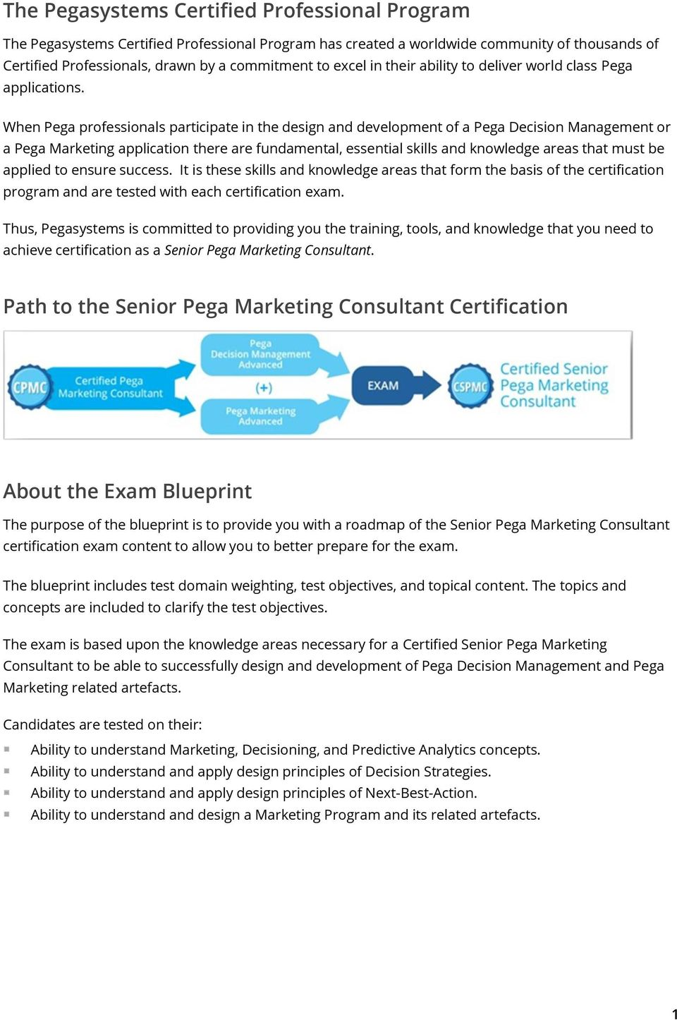 Certified Senior Pega Marketing Consultant Pdf