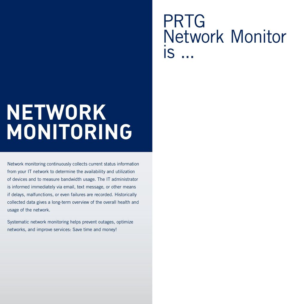 PRTG NETWORK MONITOR  Installed in Seconds  Configured in Minutes