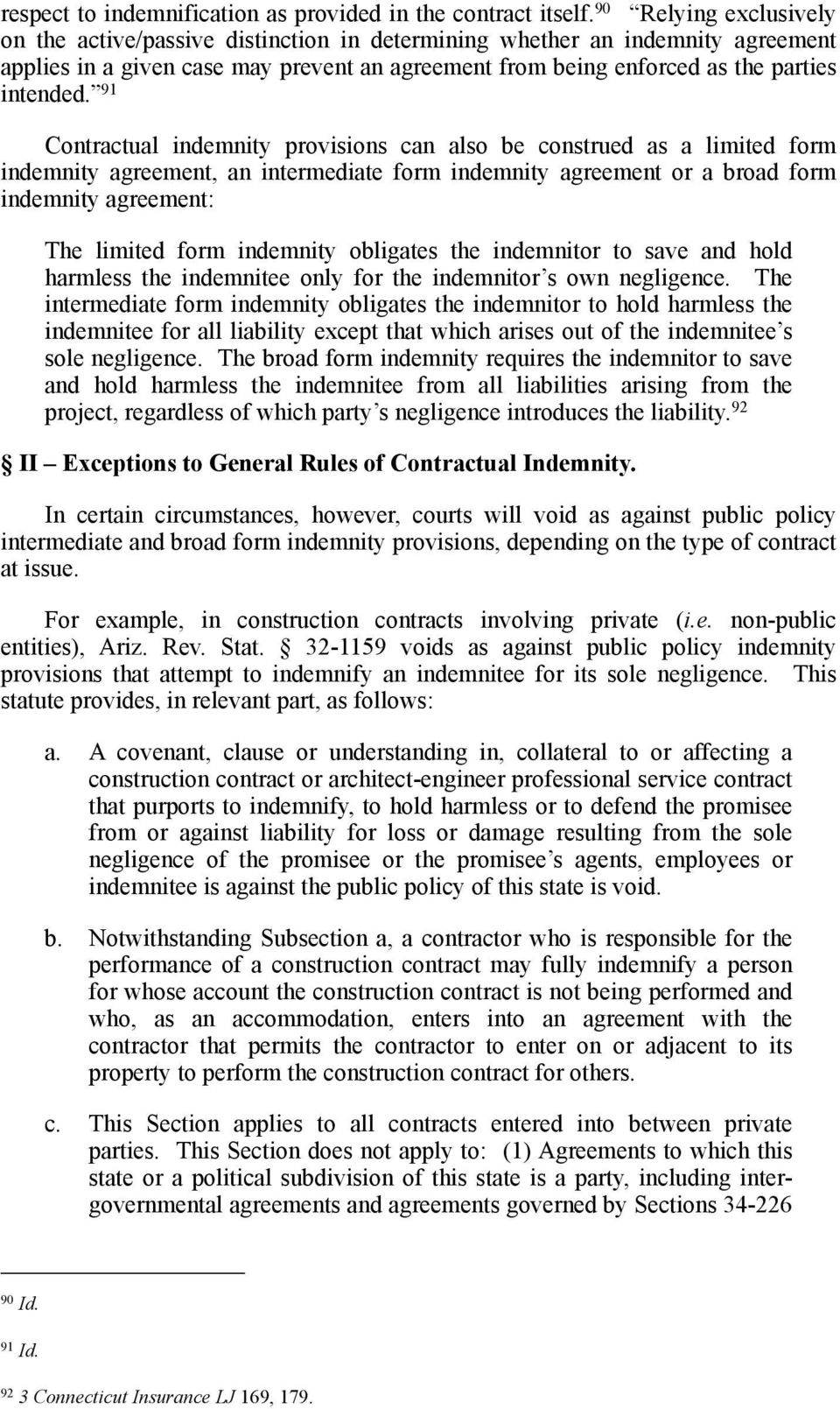 Agreements To Indemnify General Liability Insurance Pdf