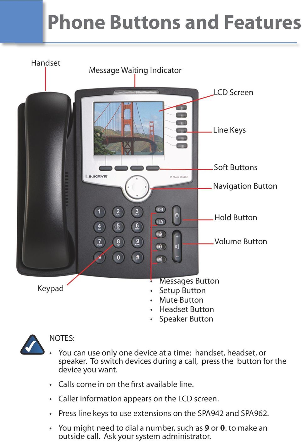 Quick Reference Guide for SPA9x2 Phones QUICK REFERENCE