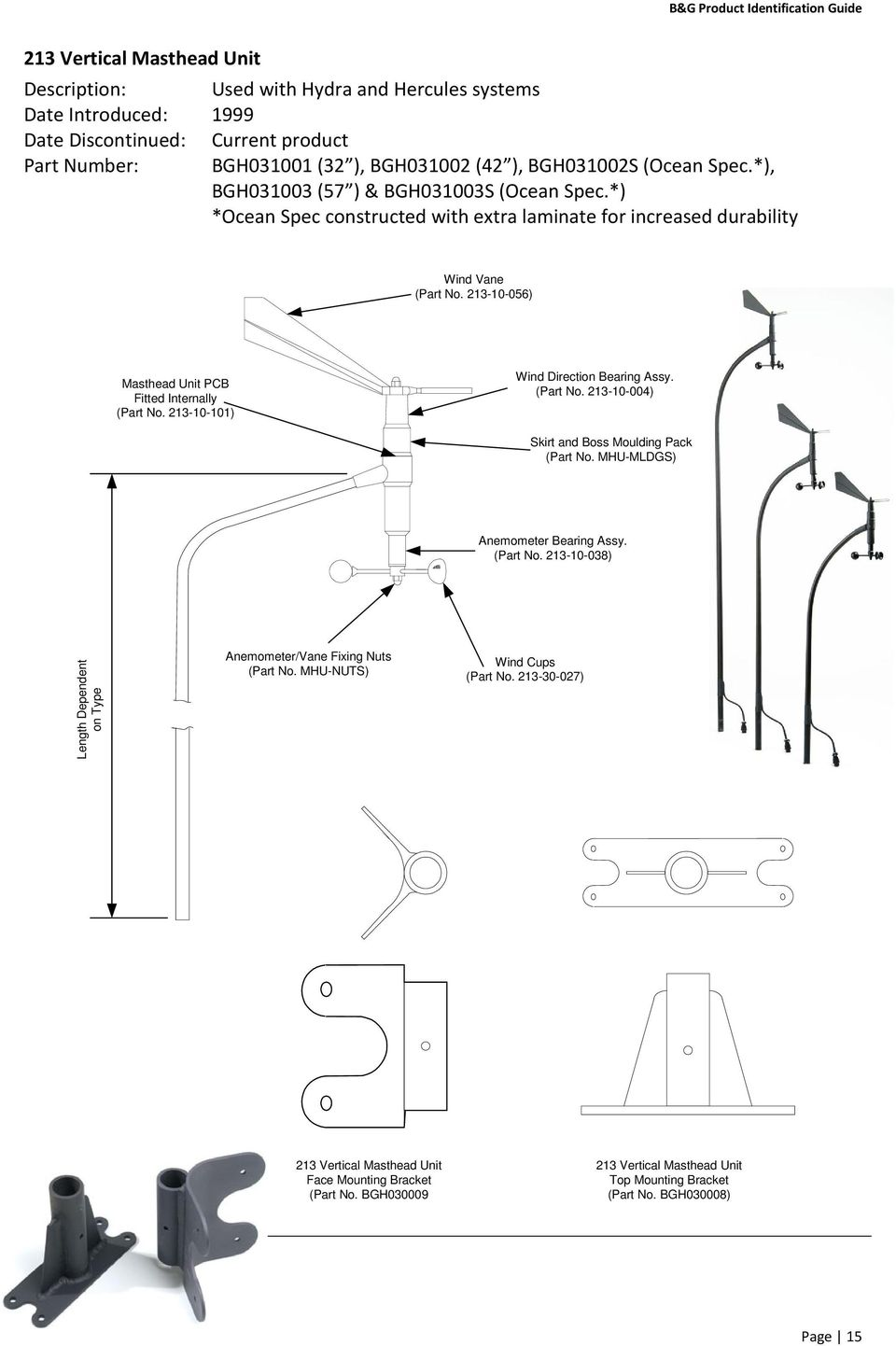 Product Identification Guide Pdf Hercules Foot Switch Wiring Diagram 213 10 101 Wind Direction Bearing Assy Part No