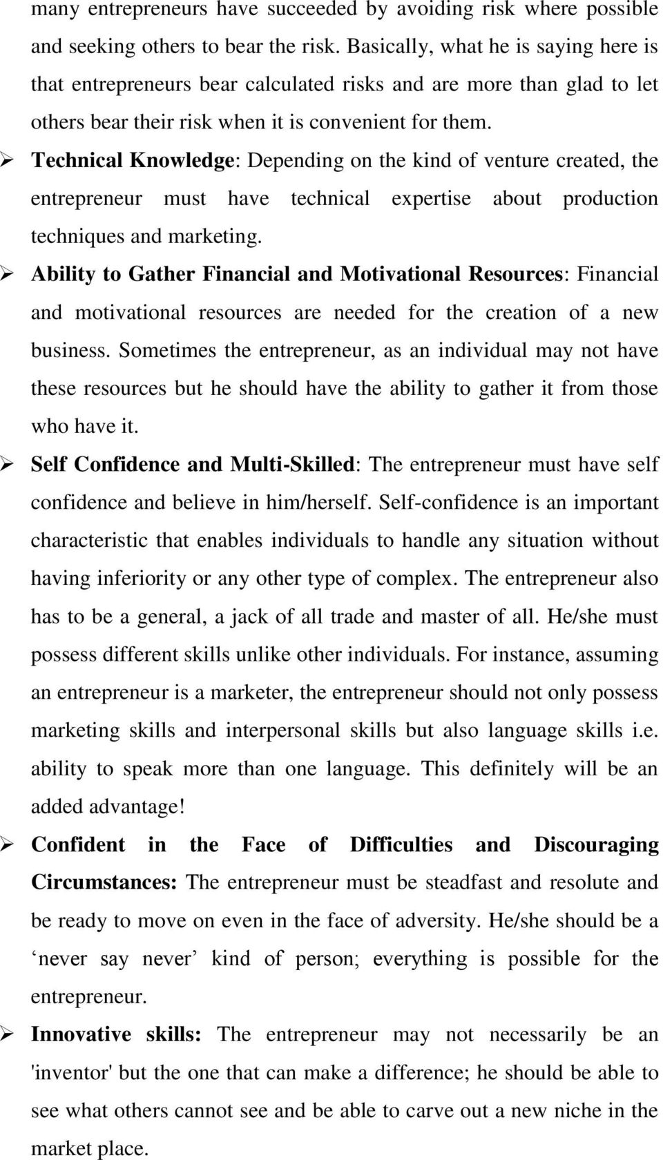 Module one theory and concept of entrepreneurship studies learning technical knowledge depending on the kind of venture created the entrepreneur must have technical fandeluxe Images