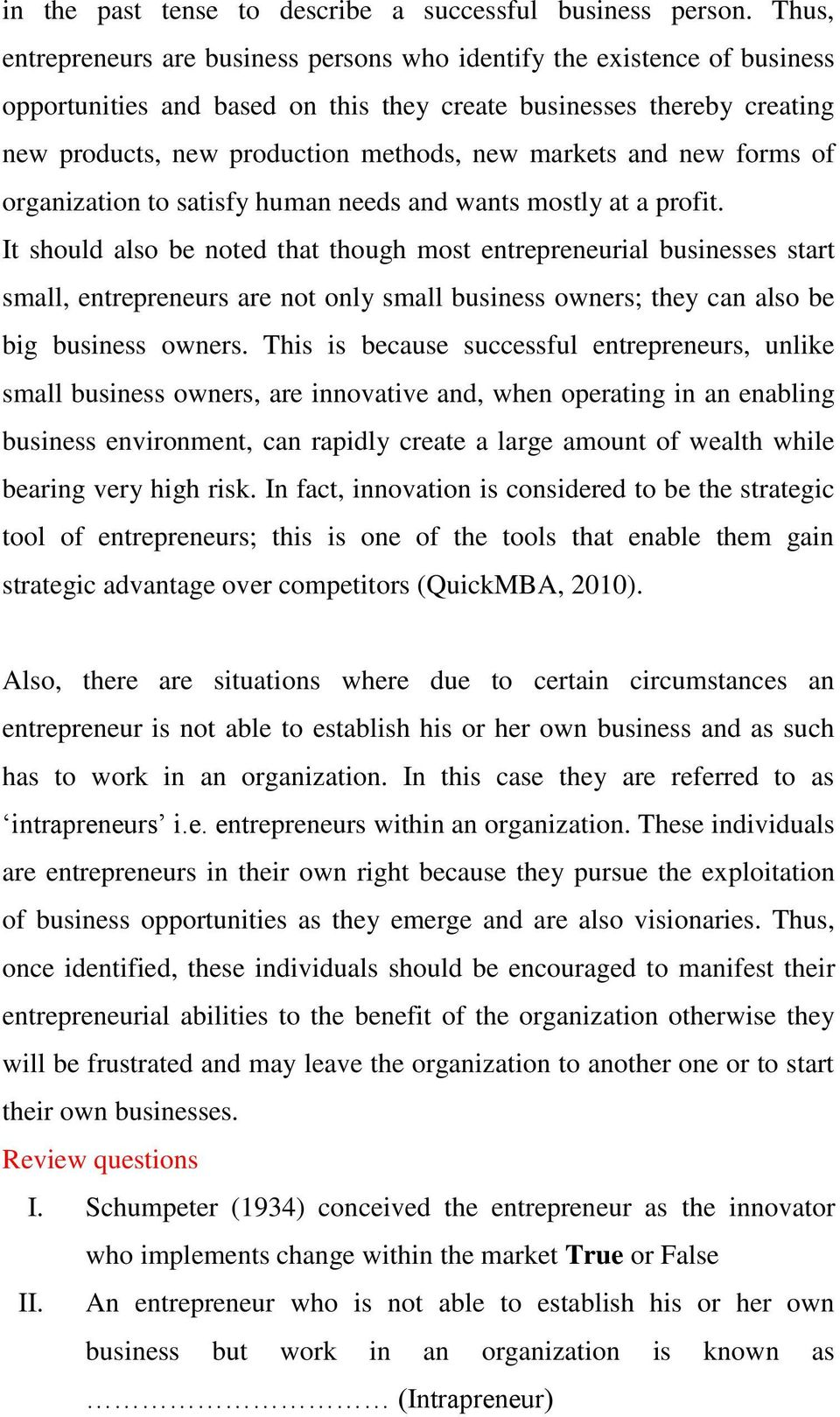 MODULE ONE THEORY AND CONCEPT OF ENTREPRENEURSHIP STUDIES