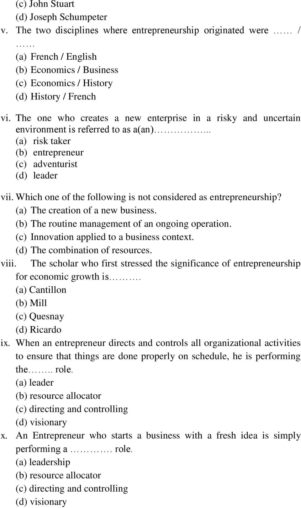 Module one theory and concept of entrepreneurship studies learning which one of the following is not considered as entrepreneurship a the creation fandeluxe Images