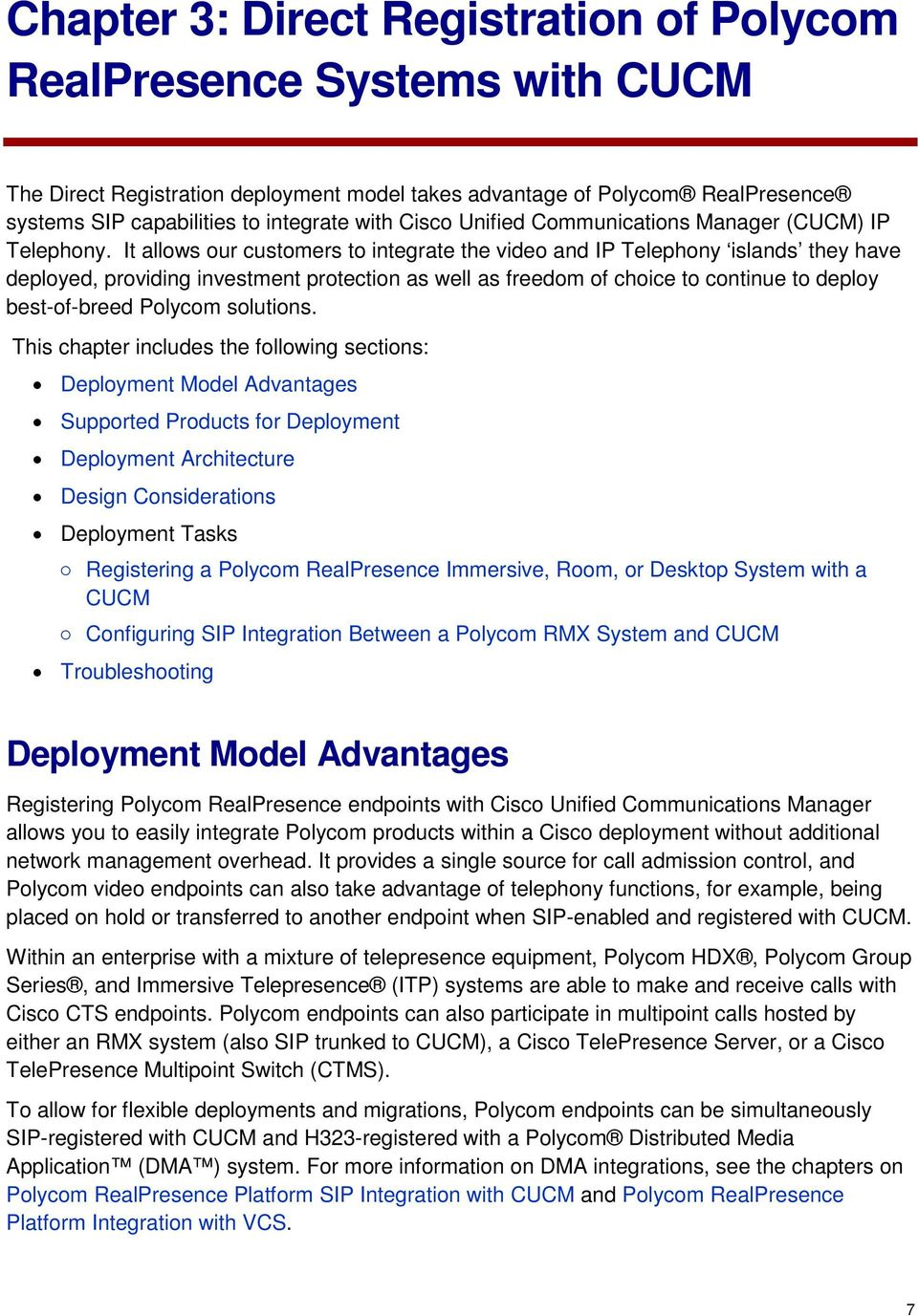 Polycom Unified Communications Deployment Guide for Cisco