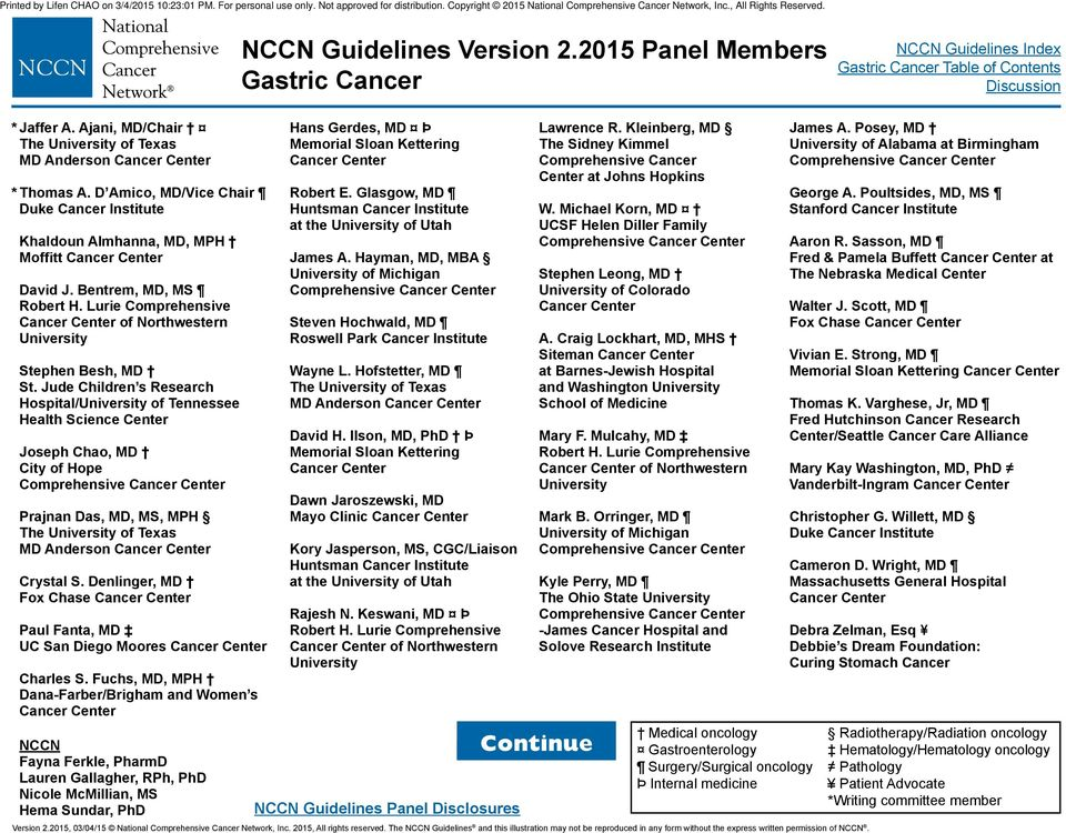 Nccn Guidelines 2014 Pdf