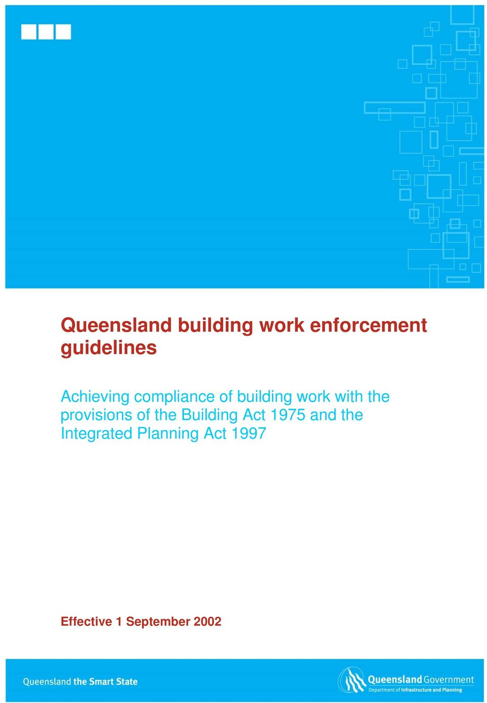 provisions of the Building Act 1975 and the