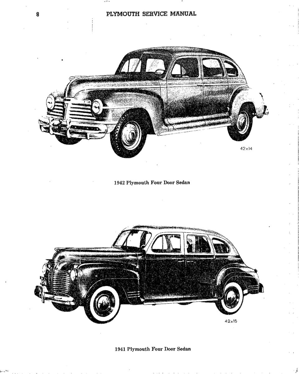 L This Manual Is Dedicated To The Men Who Service Plymouth Pdf 1941 Deluxe 2 Door Four Sedan