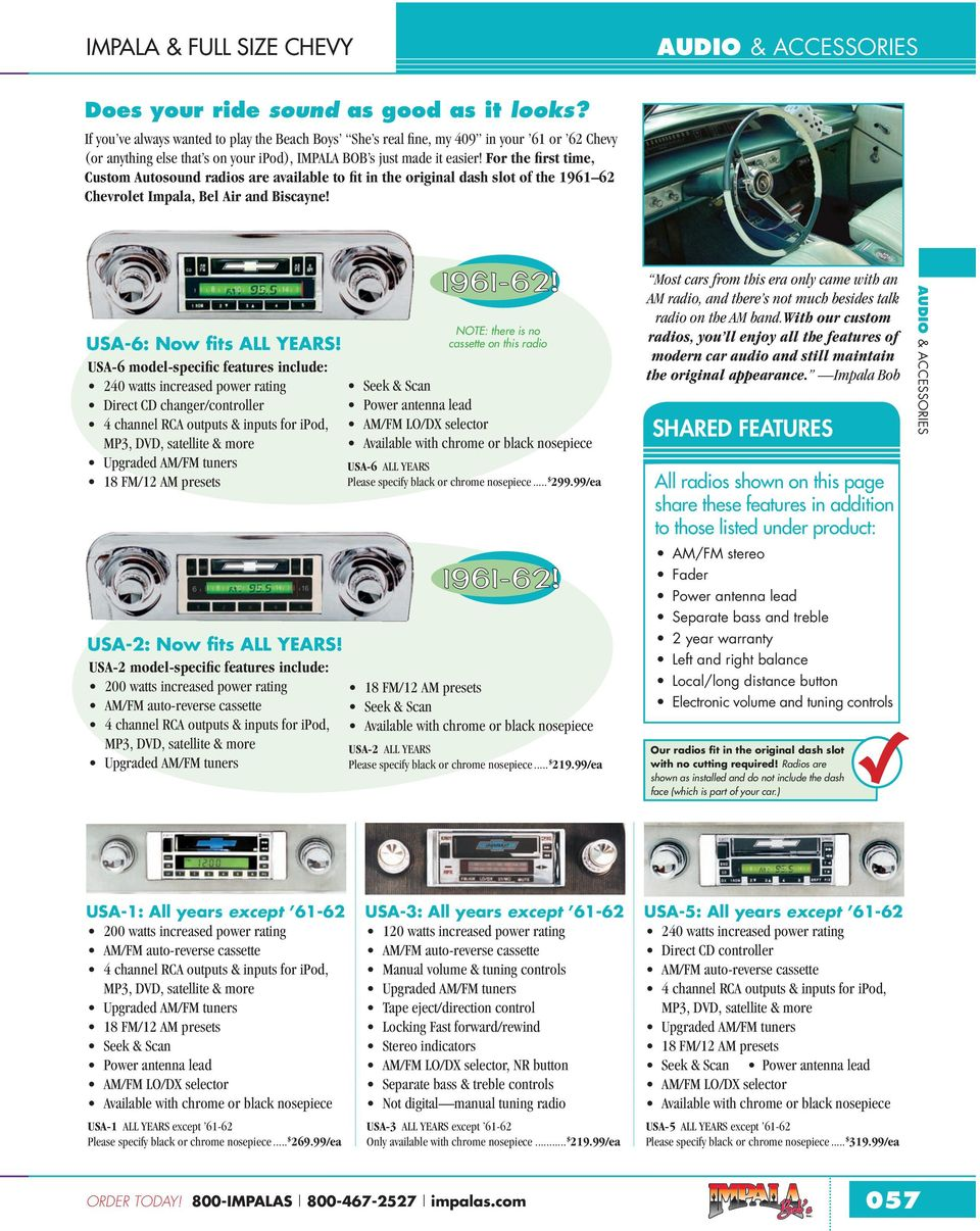 Impala Full Size Chevy Pdf 1960 Chevrolet Passenger Car Radio Besides 2008 Wiring For The First Time Custom Autosound Radios Are Available To Fit In Original Dash