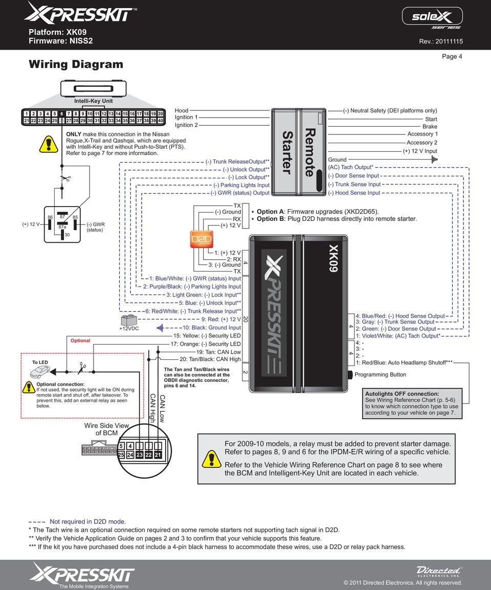 Nissan Rogue Service Manual: Diagnosis system (BCM) (with intelligent key system)