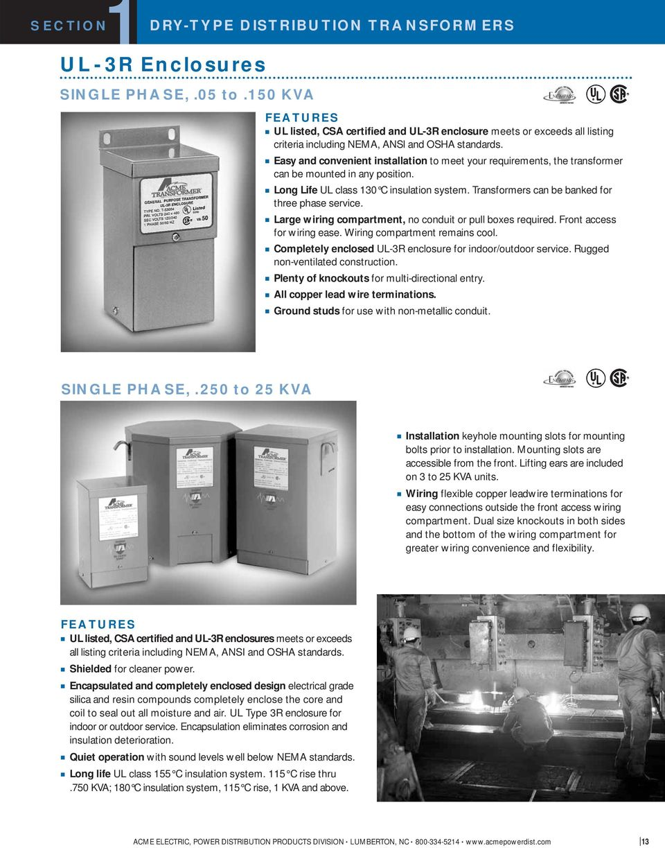 Acme Electric Corporation Pdpd 01 Pdf Single Phase Transformer Wiring Diagrams Easy And Convenient Installation To Meet Your Requirements The Can Be Mounted In Any