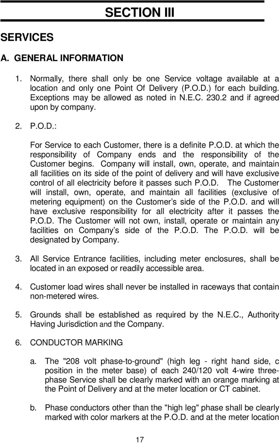 Requirements For Electric Service And Meter Installations Former Ct Cabinet Wiring Diagram Company Will Install Own Operate Maintain All Facilities On Its Side Of