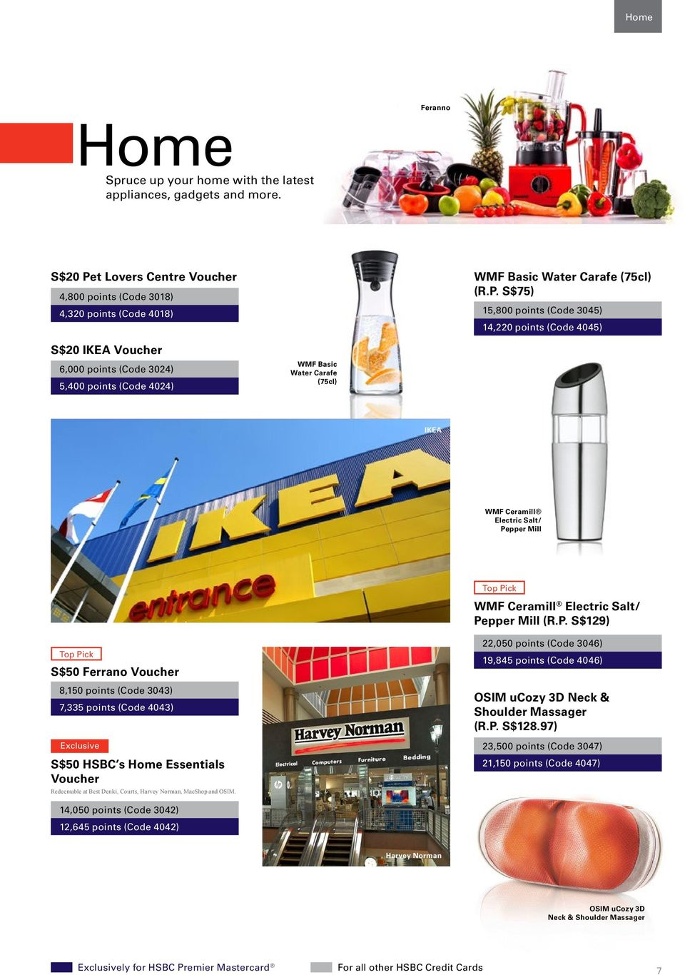 Treat Yourself To Something Special From Hsbc S Rewards Programme Pdf Voucher Ikea Rp 300000 S75 15800 Points Code 3045 14220 4045