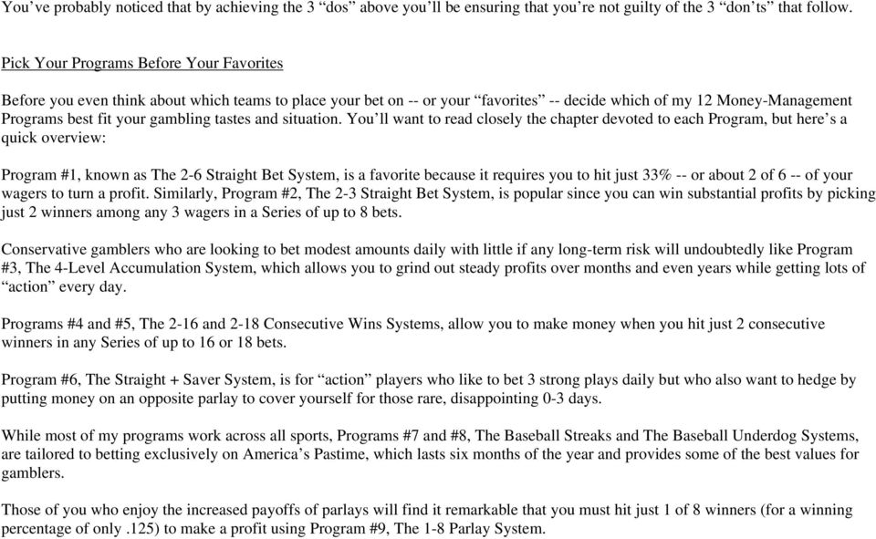 12 WAYS TO BEAT YOUR BOOKIE - PDF