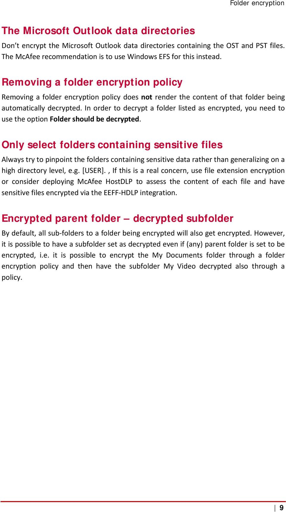 Mcafee Endpoint Encryption For Files And Folders Best Practices