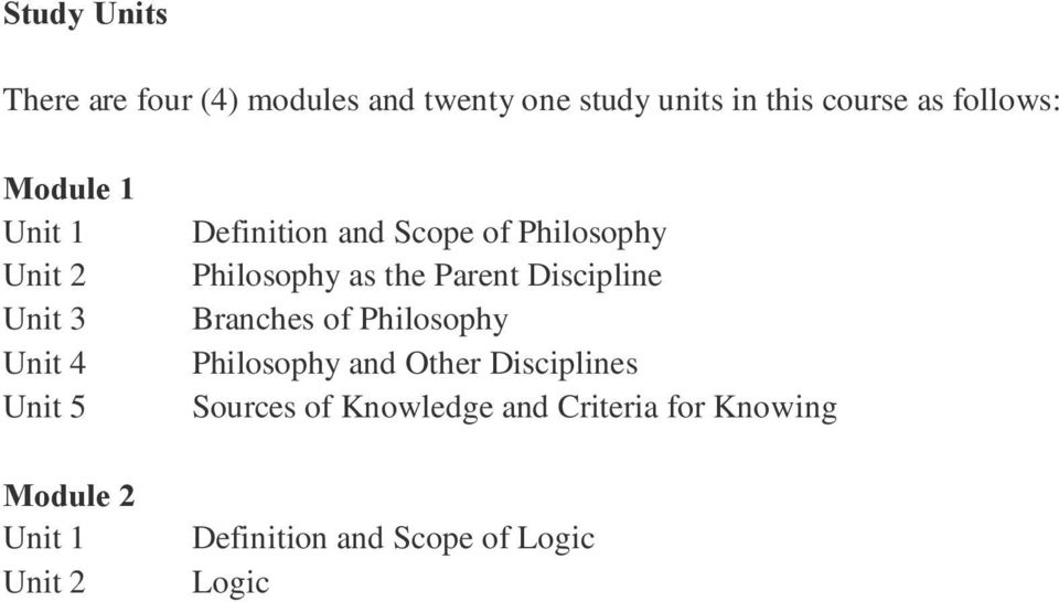 philosophy and logic gst 100