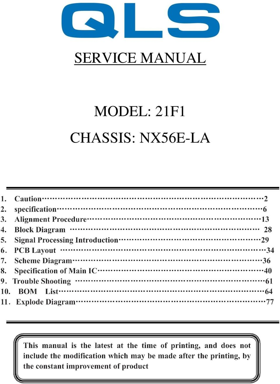 Service Manual Model 21f1 Chassis Nx56e La Pdf Printed Circuit Board Shot From Above And Radiation Warning Sign 2 1 Caution Use Of Controls Adjustments Or Procedures Other Than Those Specified Herein May Result In Hazardous Exposure