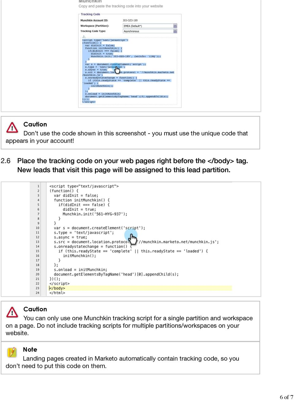 Add Munchkin Tracking Code to Your Website - PDF