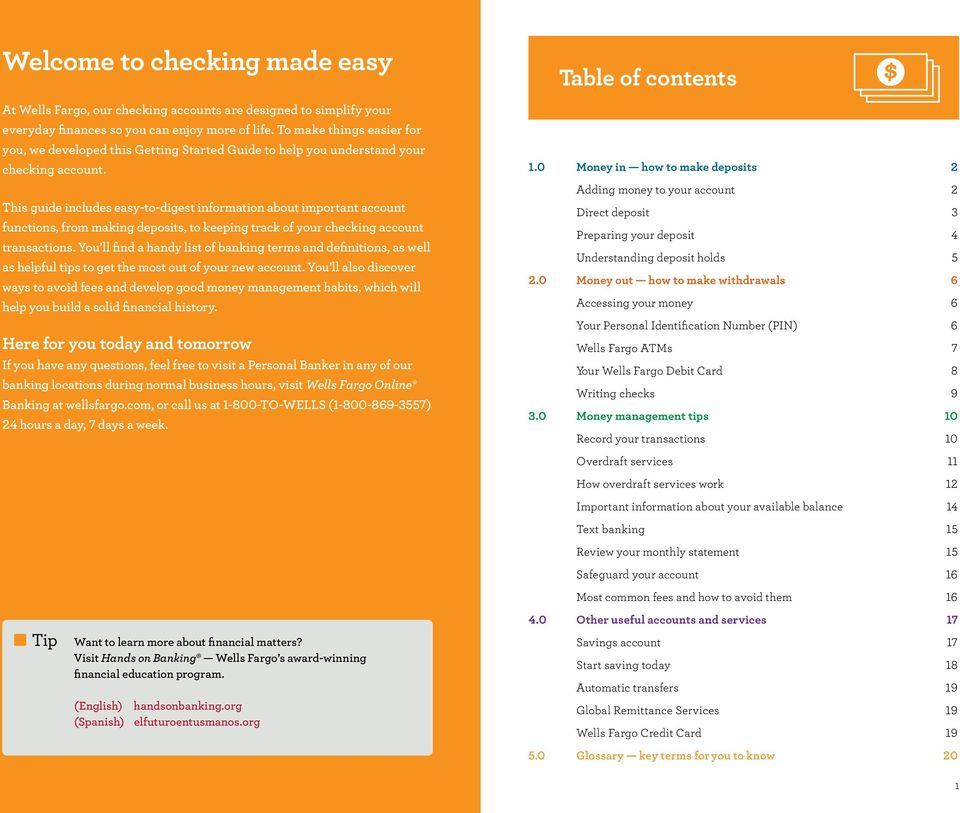 Your new checking account Getting started guide - PDF