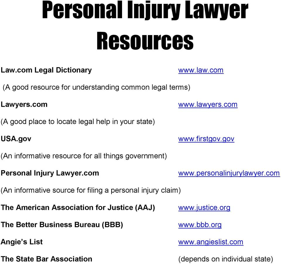 gov (An informative resource for all things government) Personal Injury Lawyer.com www.personalinjurylawyer.