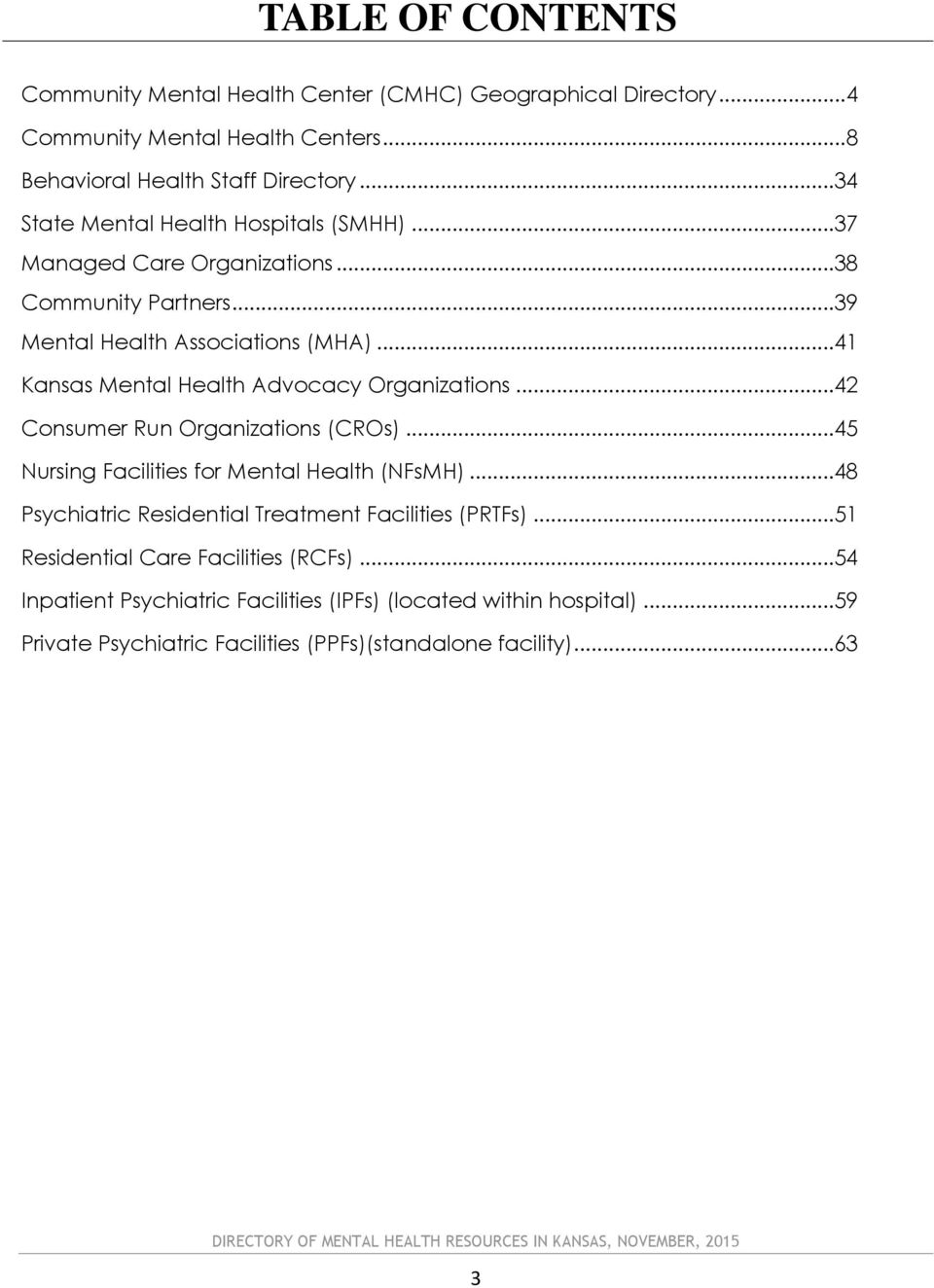 Directory Of Mental Health Resources In Kansas Pdf
