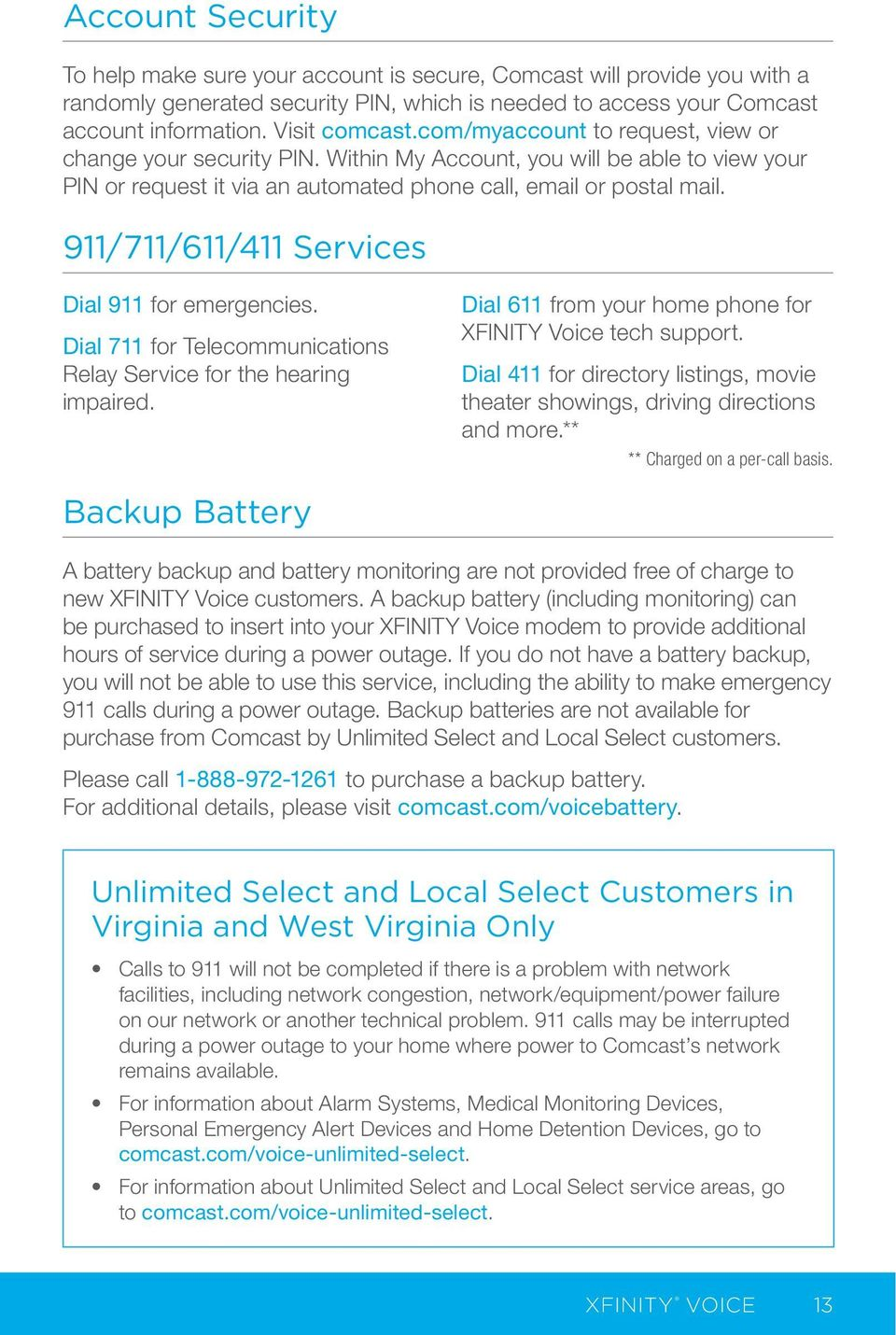 Your Xfinity Get Started With Your New Xfinity Services Pdf