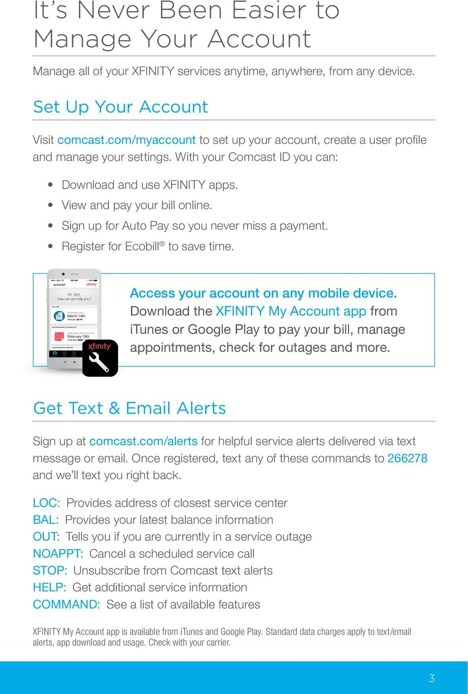 Your XFINITY  Get started with your new XFINITY services  - PDF