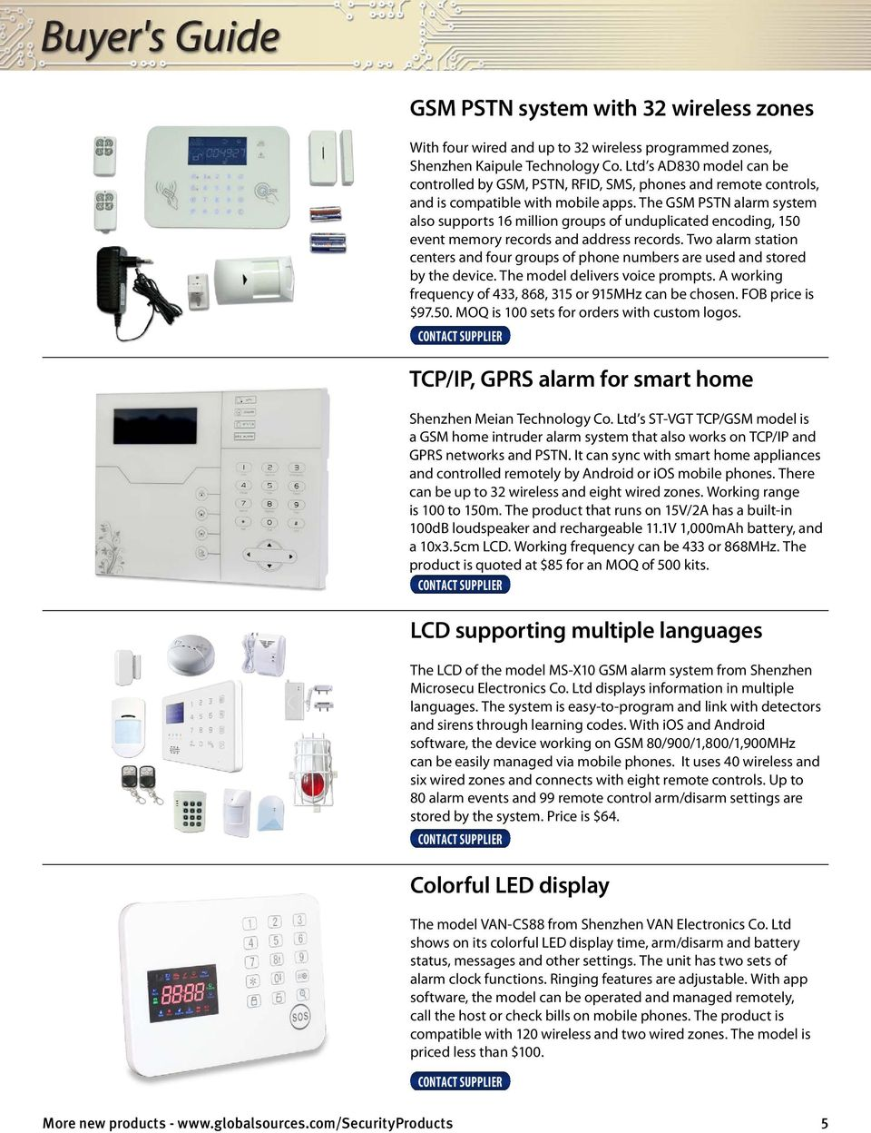 Gsm Alarm Systems 11 Supplier Profiles 10 Smart Home Ready
