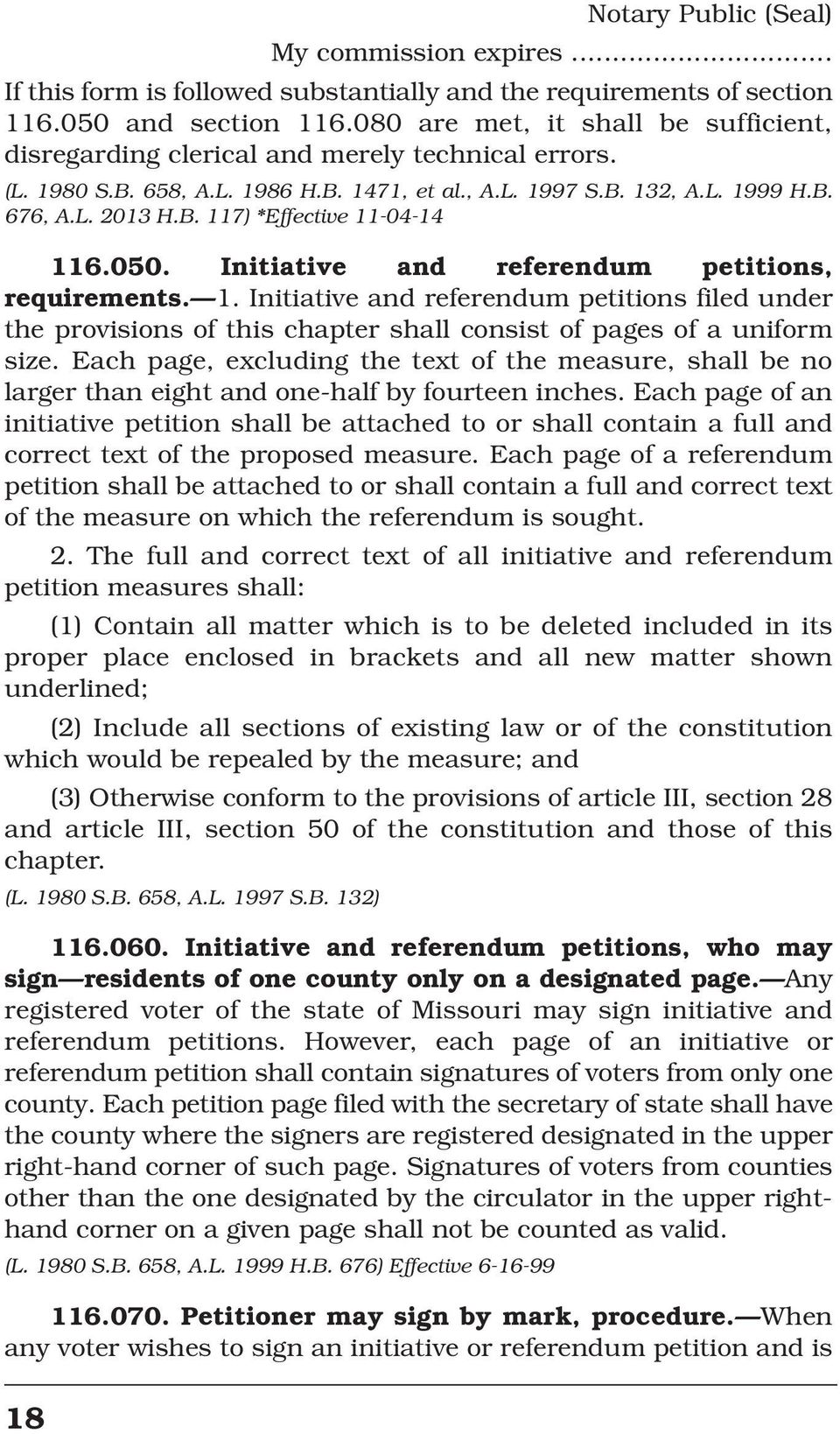 050. Initiative and referendum petitions, requirements. 1. Initiative and referendum petitions filed under the provisions of this chapter shall consist of pages of a uniform size.