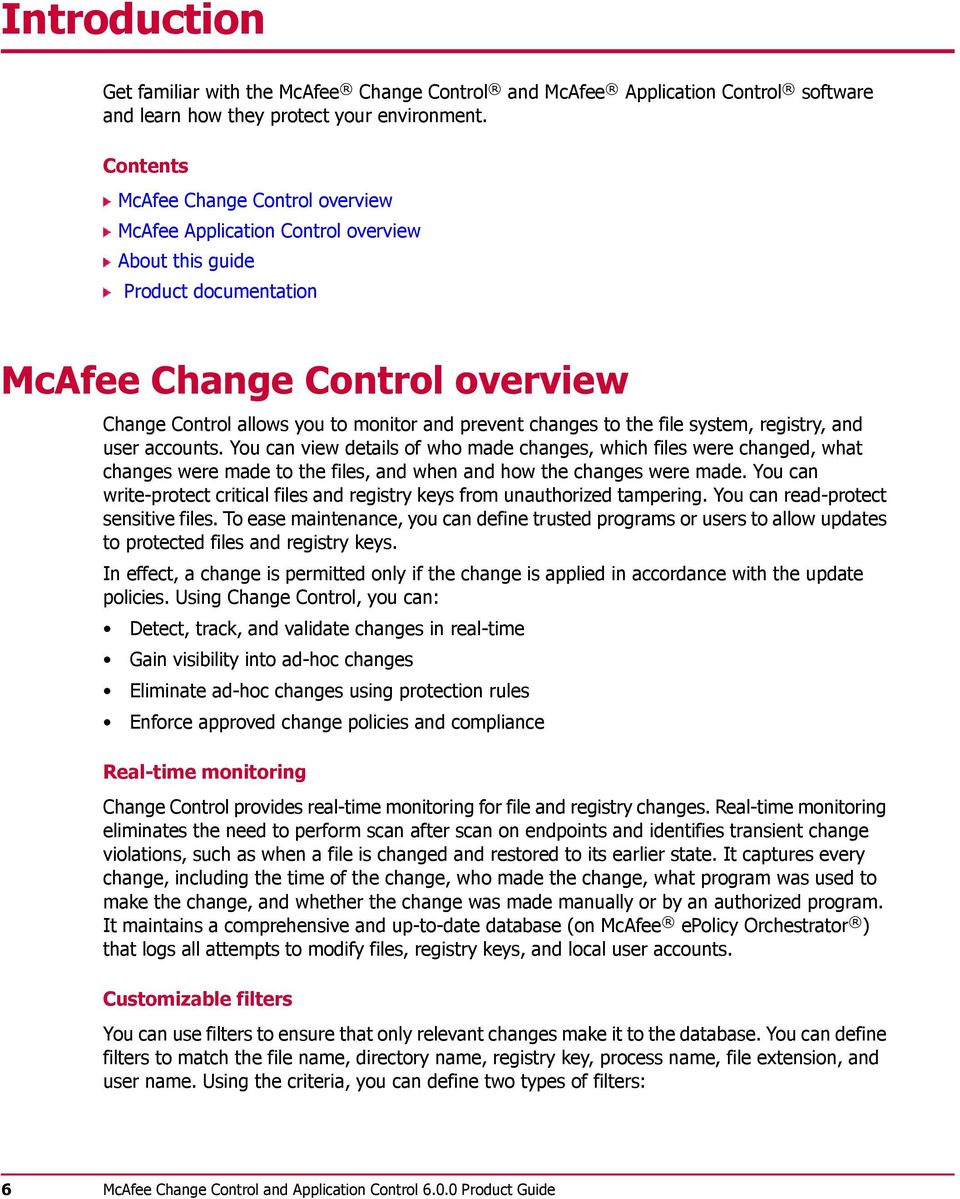 McAfee Change Control and Application Control Product Guide