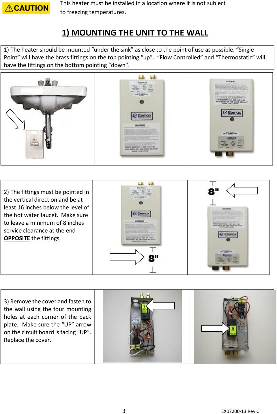 Installation Guide And Owner S Manual Pdf Continuity Tester Circuit Searscom Flow Controlled Thermostatic Will Have The Fittings On Bottom Pointing Down