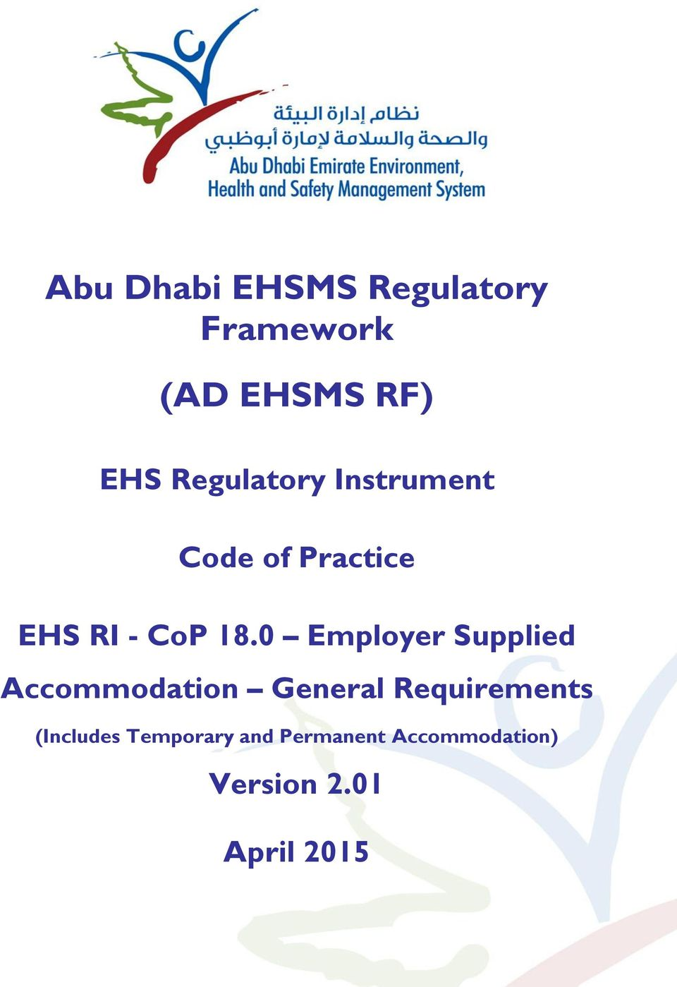 Abu Dhabi EHSMS Regulatory Framework (AD EHSMS RF) - PDF