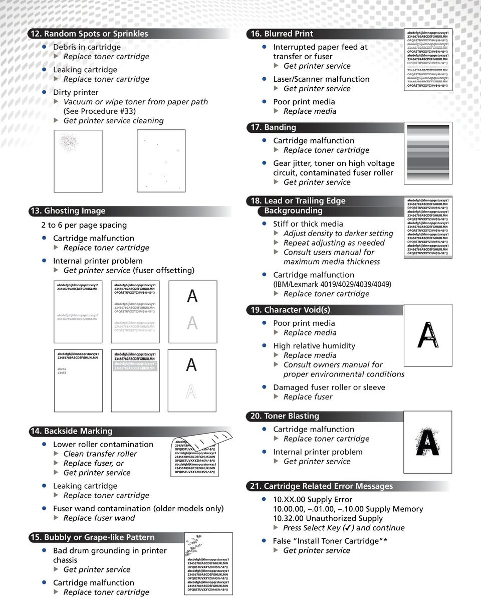 Ii Monochrome Image Quality Problems Pdf Hp Laserjet 1160 1320 Printer Service Manual Banding Gear Jitter Toner On High Voltage Circuit Contaminated Fuser Roller 18