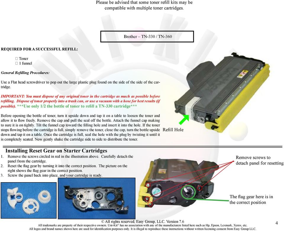 Toner Refill Instructions - PDF
