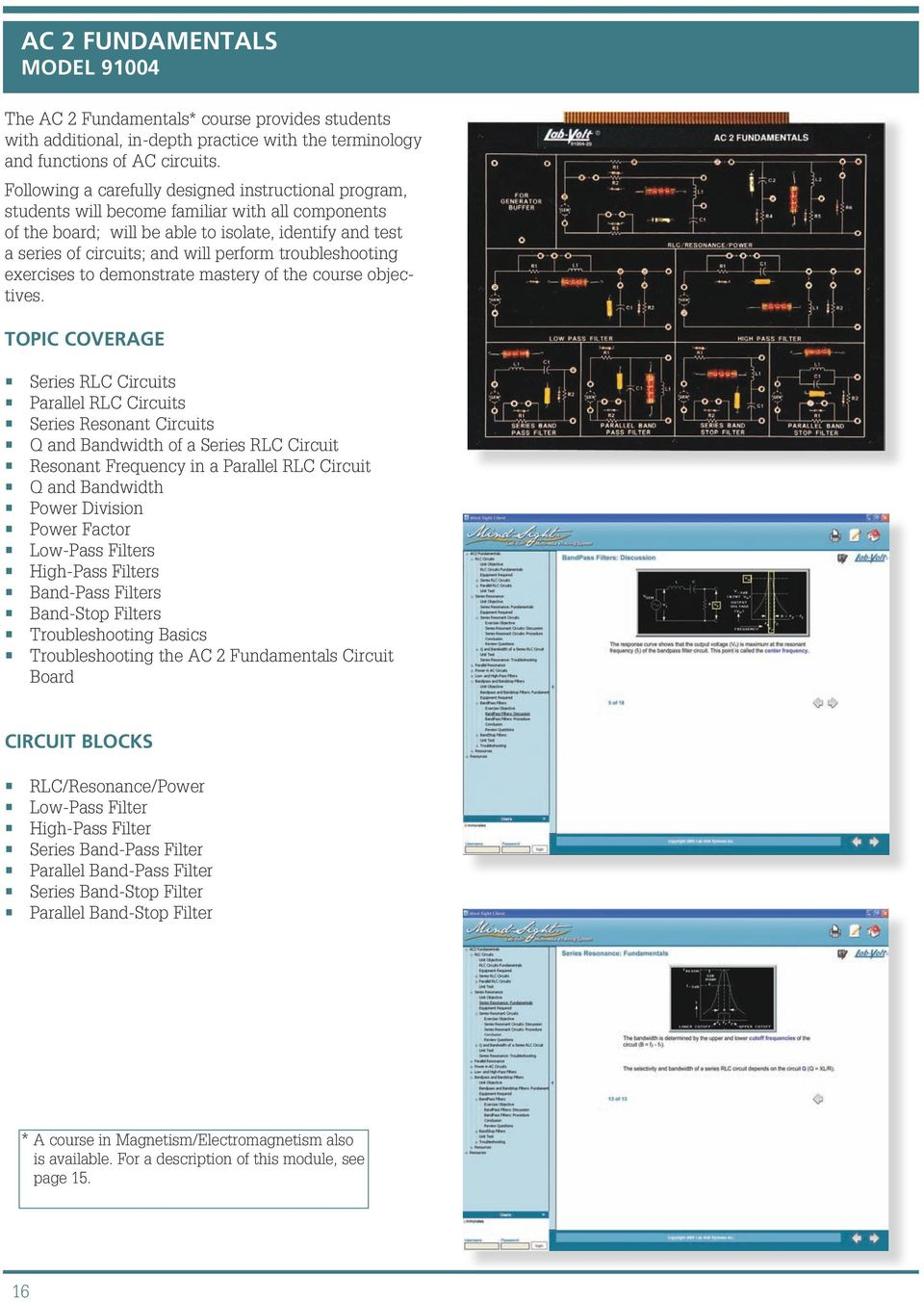 Electronics Training Systems Facet Pdf How To Troubleshoot This Bandstop Filter Circuit Electrical Troubleshooting Exercises Demonstrate Mastery Of The Course Objectives