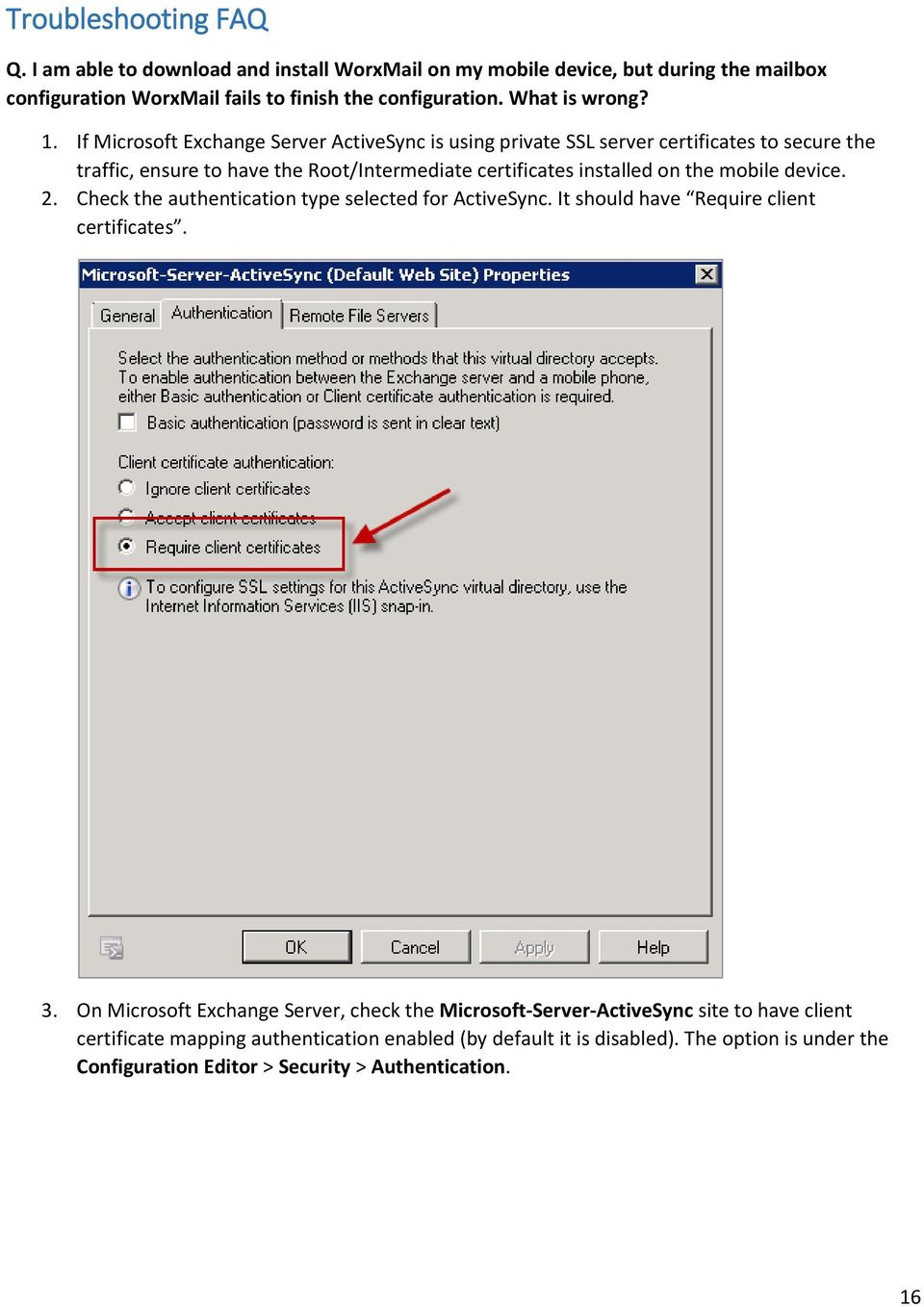How To Configure Certificate Based Authentication For Worxmail And