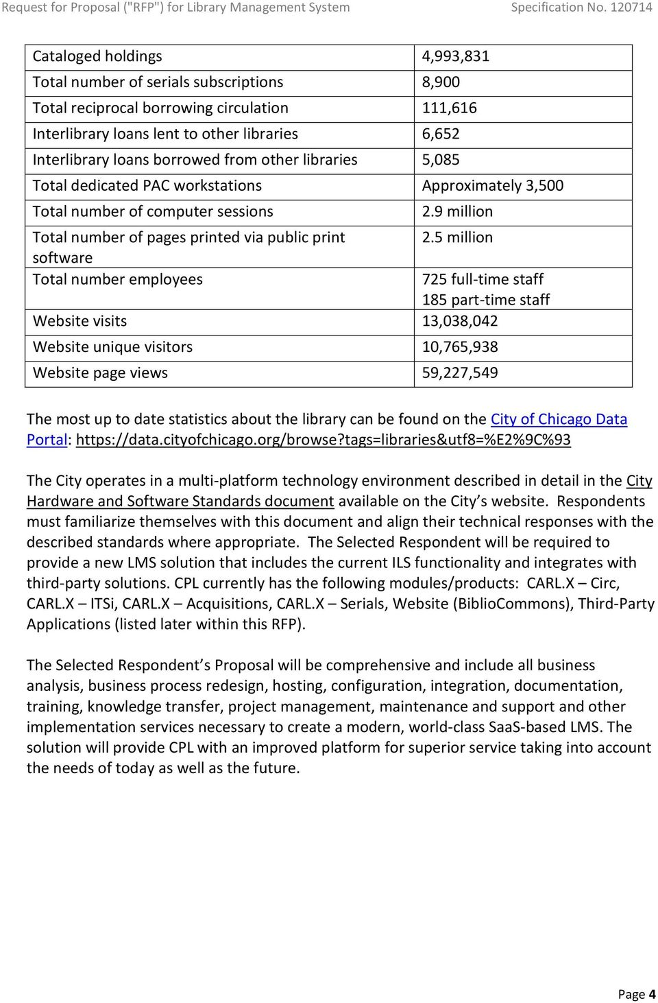 REQUEST FOR PROPOSAL (