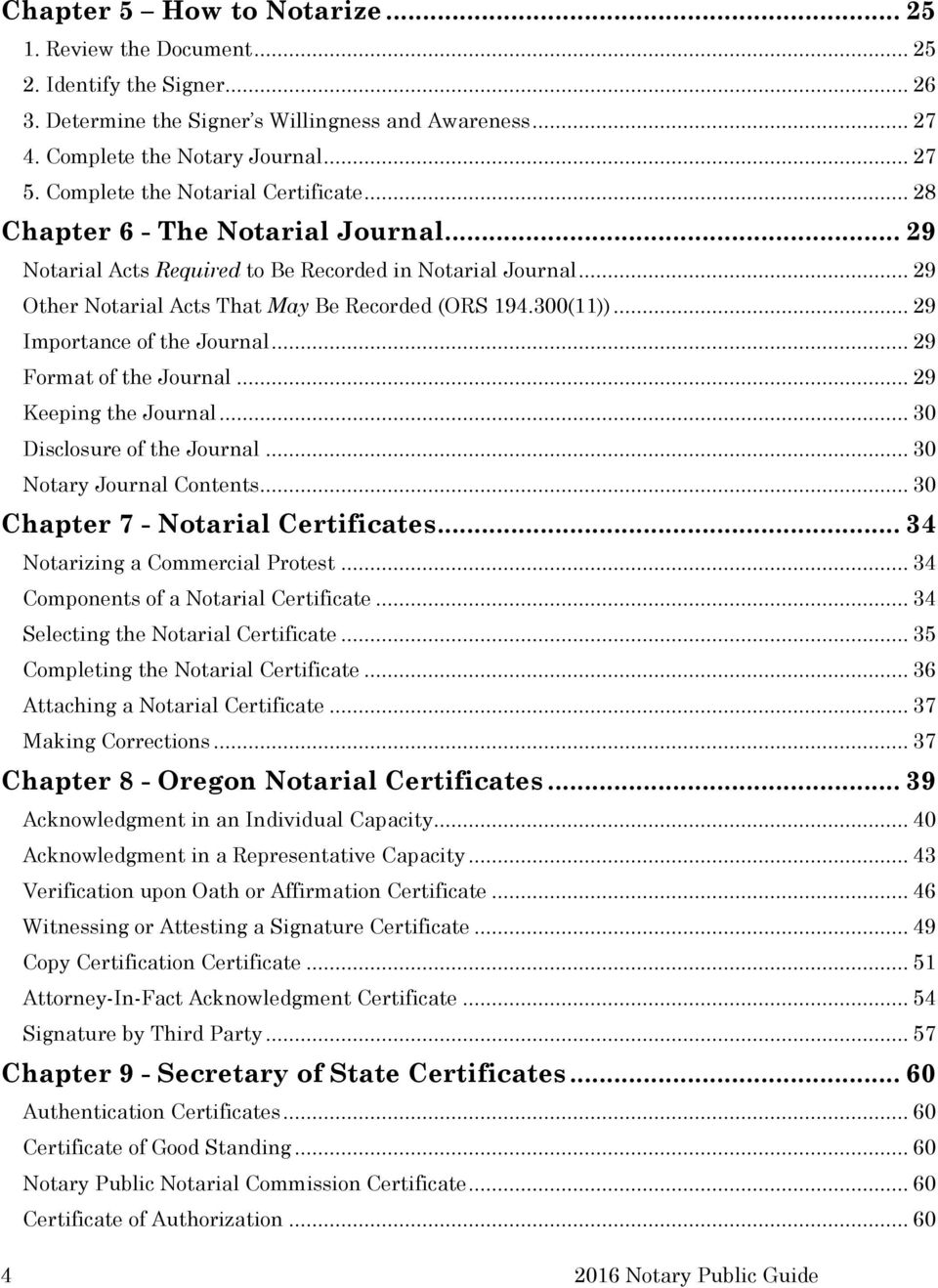 Oregon Notary Public Guide Corporation Division Secretary Of State