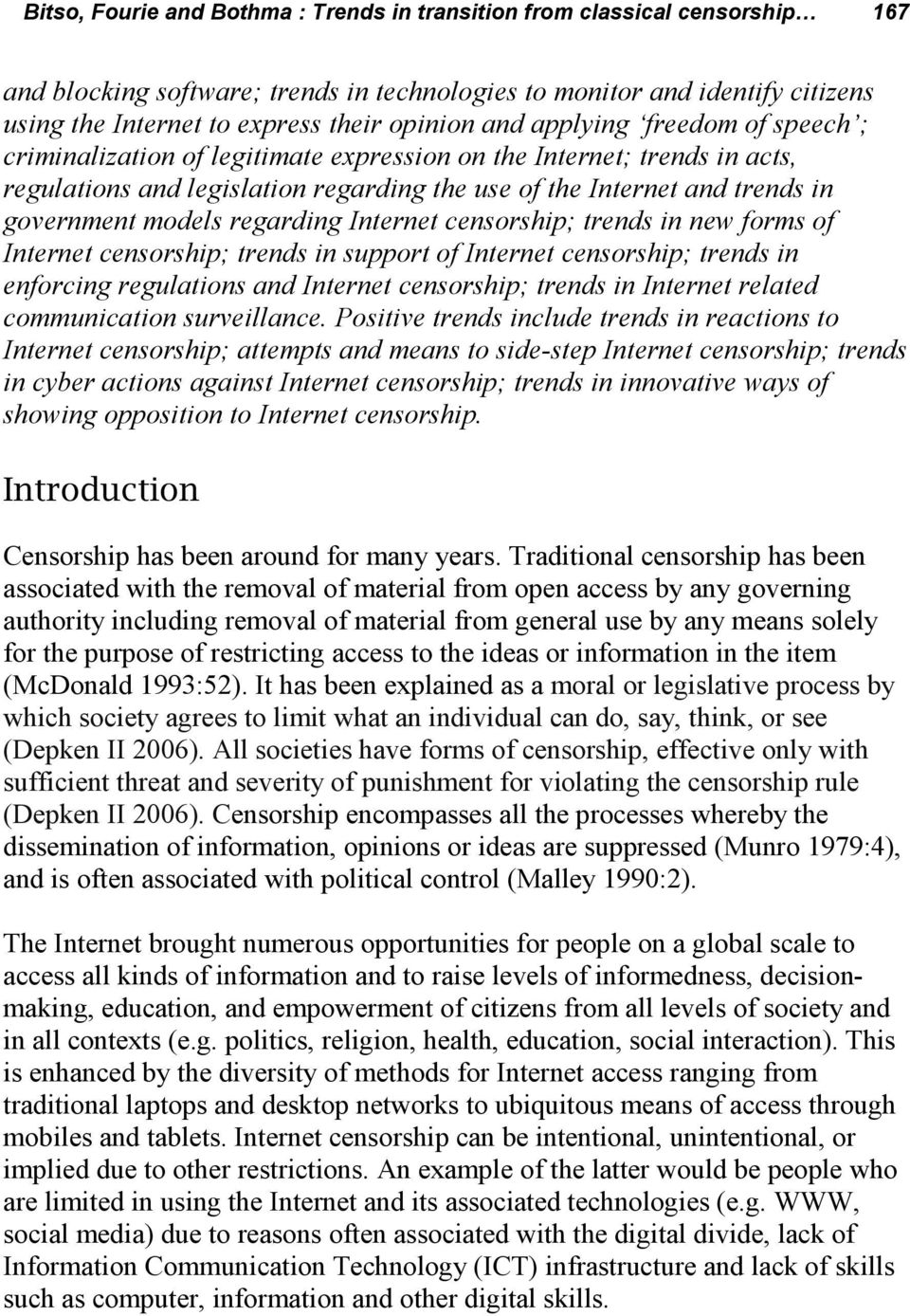 The gradual introduction of Internet censorship in Russia 95