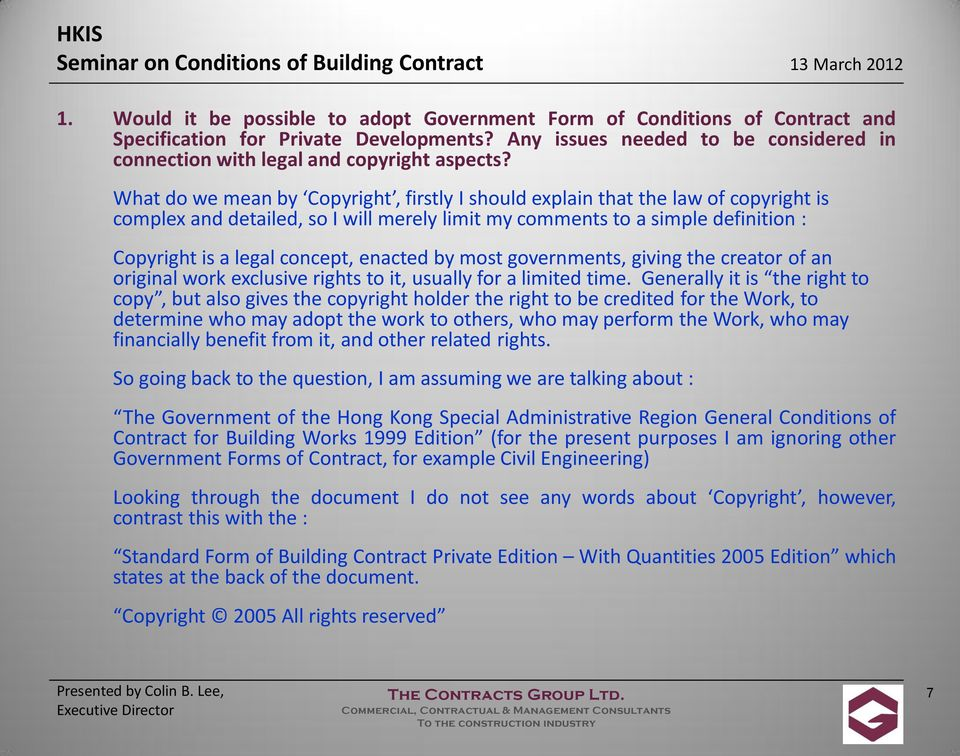 standard building contract with quantities