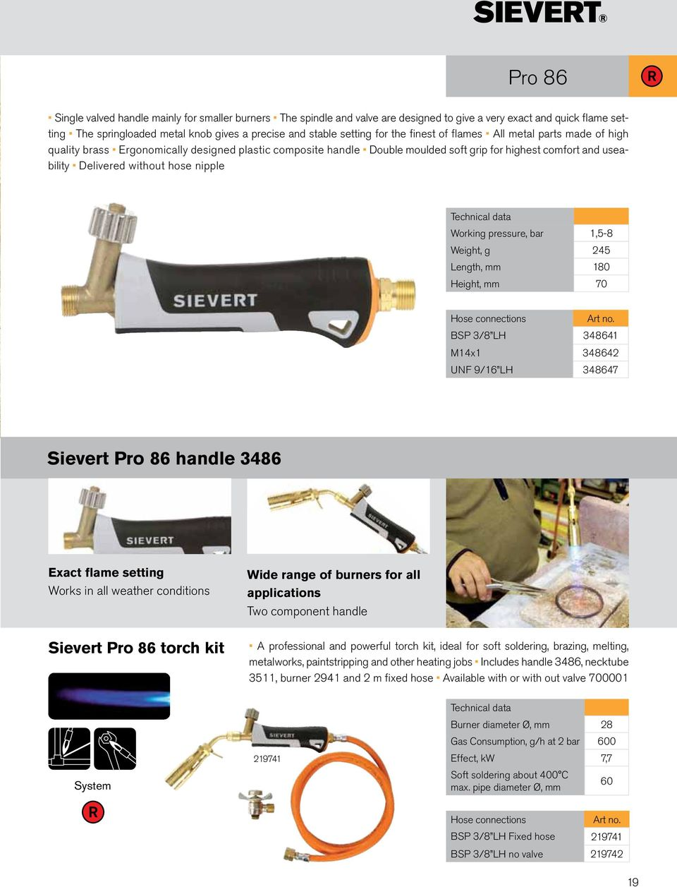 Heating tools for professionals  Product Catalogue - PDF