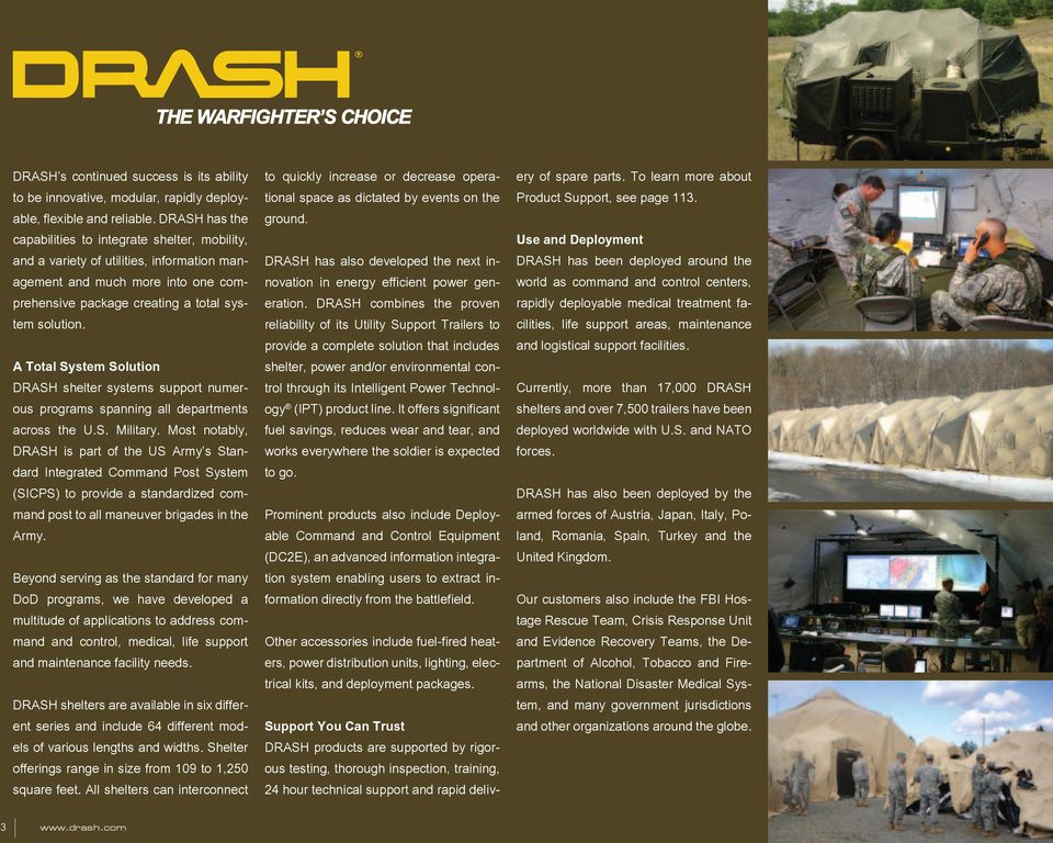 ABOUT DHS SYSTEMS  Table of Contents  DRASH 3 Intelligent