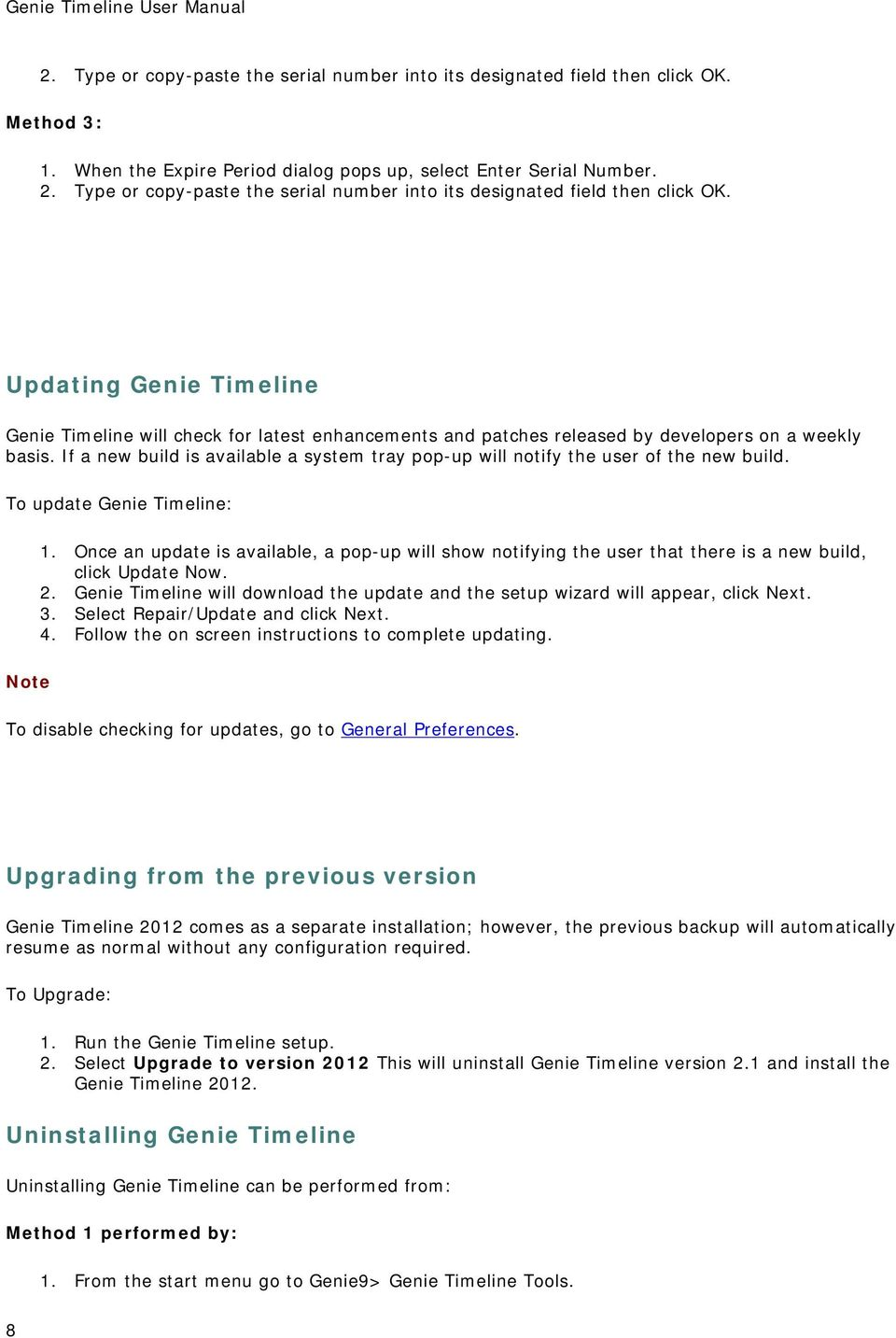 Genie Timeline User Manual S 40 Wiring Diagram Pdf Rh Docplayer Net Backup Manager Pro Software