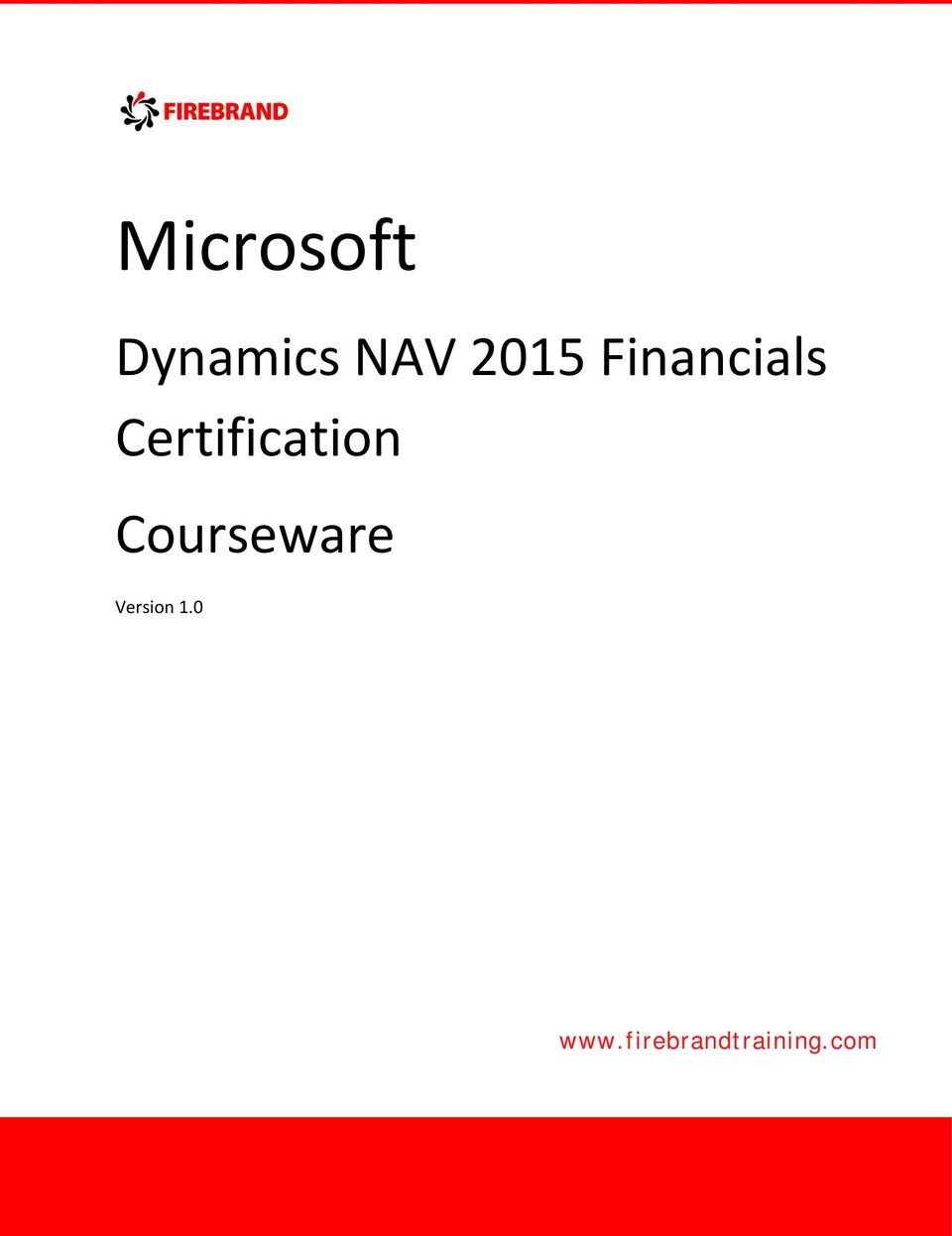 Microsoft Dynamics Nav 2015 Financials Certification Courseware