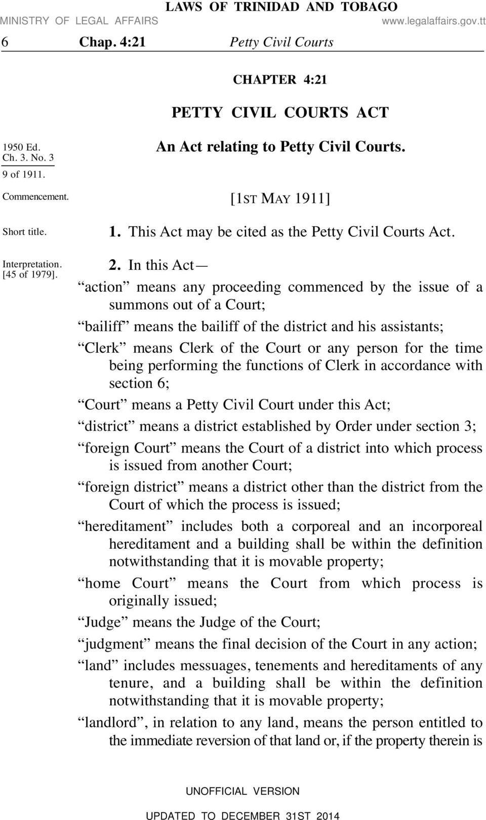 petty civil courts act - pdf